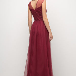 Cinderella's Closet Dresses - Burgundy A-Line Bridesmaid Long Dress